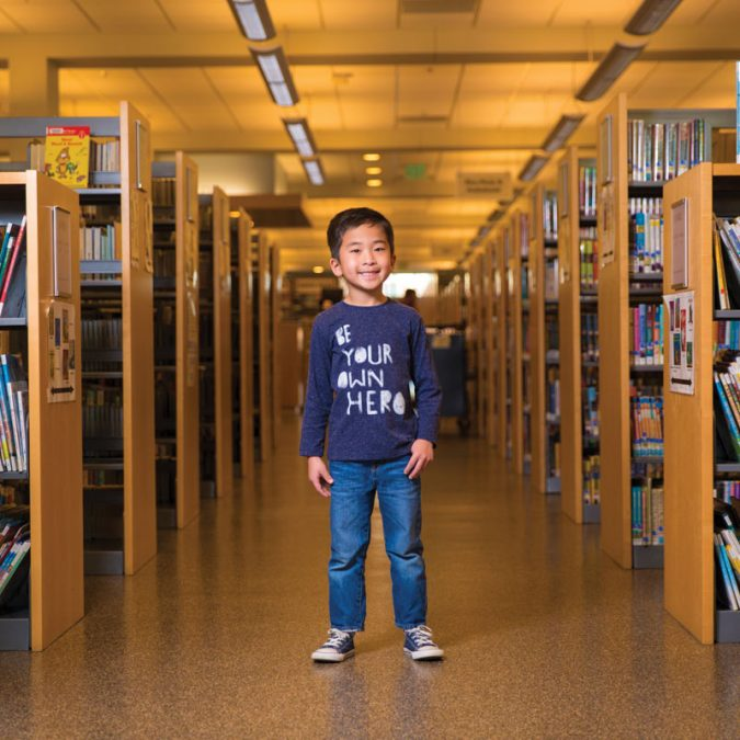 Young Boy in the Library