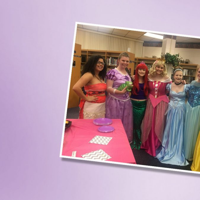Picture of 7 Girls Dressed as Disney Princesses