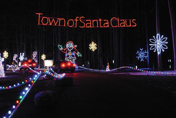 Christmas lights at Santa Claus Land of Lights