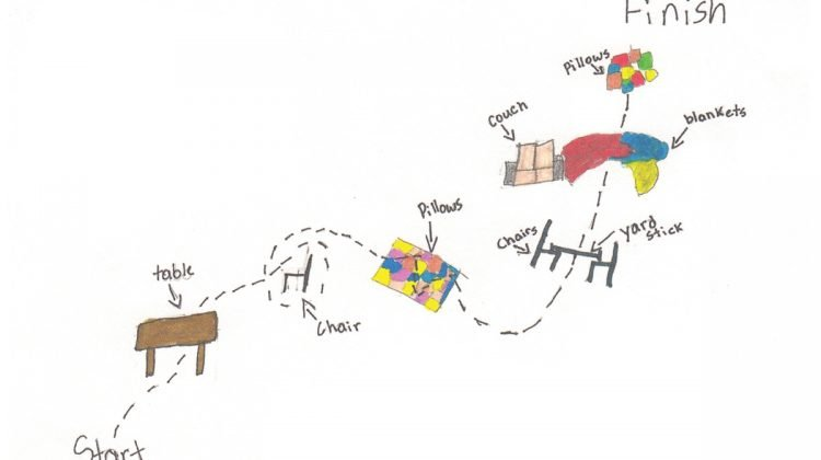 Drawing of indoor obstacle course