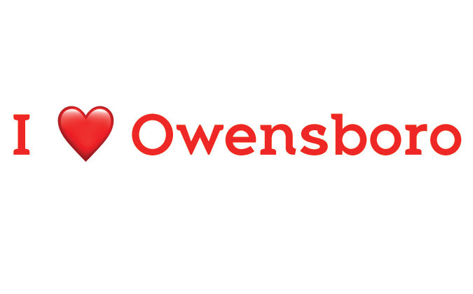 """I love Owensboro"" text"