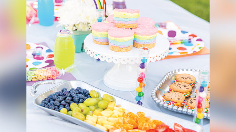 Over the Rainbow Backyard Party